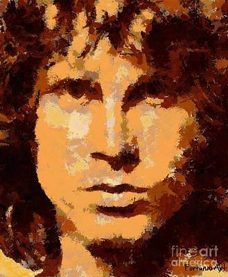 Jim Morrison - Digital Art Art Print