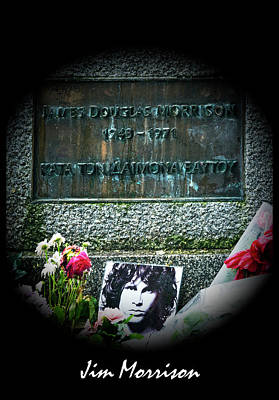 Val Kilmer Wall Art - Photograph - Jim Morrison Grave Pere Lachaise Cemetery Paris France by Sally Rockefeller