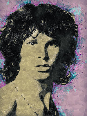 Mixed Media - Jim Morrison Illustration by Studio Grafiikka