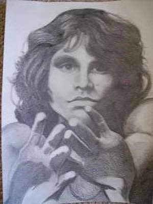 Gioffre Harrington Drawing - Jim Morrison by Janet Gioffre Harrington