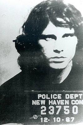 Painting - Jim Morrison Mug Shot Vertical by Tony Rubino