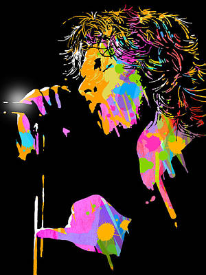 Painting - Jim Morrison by Paul Sachtleben