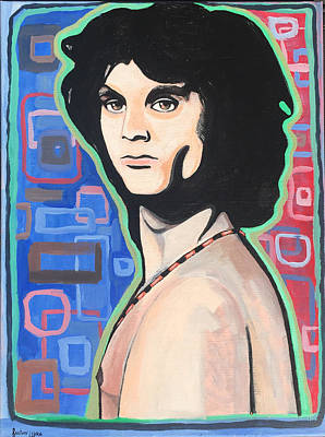 Live Music Drawing - Jim Morrison Portrait  by Justin Welch