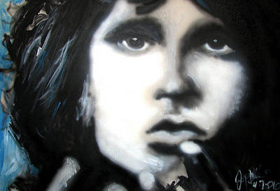 The Doors Poster Painting - Jim Morrison Ravens Claws   by Jon Baldwin  Art