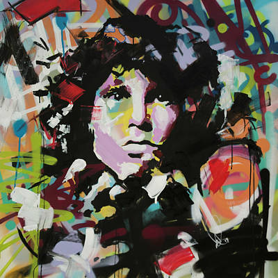 Expressive Art Painting - Jim Morrison by Richard Day