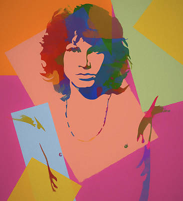 Native Portraits Mixed Media - Jim Morrison The Doors  by Dan Sproul