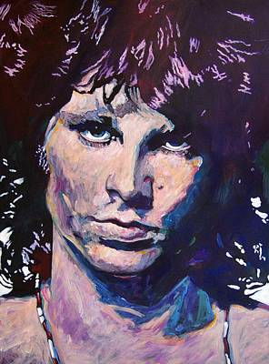 The Doors Painting - Jim Morrison The Lizard King by David Lloyd Glover