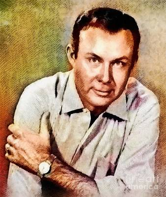 Music Paintings - Jim Reeves, Music Legend by John Springfield by Esoterica Art Agency