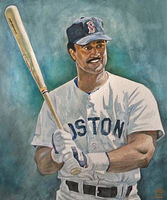 Bosox Painting - Jim Rice by Nigel Wynter