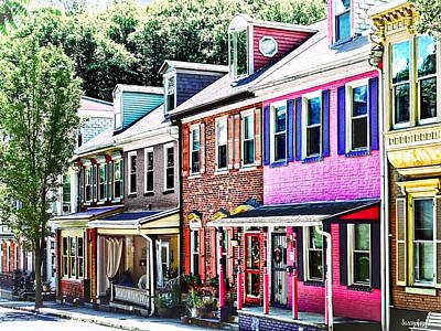 Photograph - Jim Thorpe Pa - Colorful Street by Susan Savad