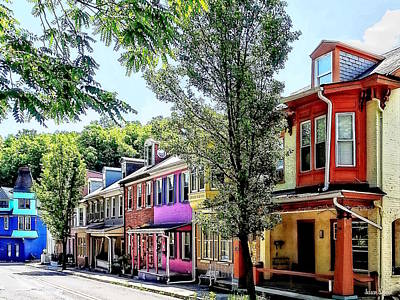 Photograph - Jim Thorpe Pa - Quaint Street by Susan Savad