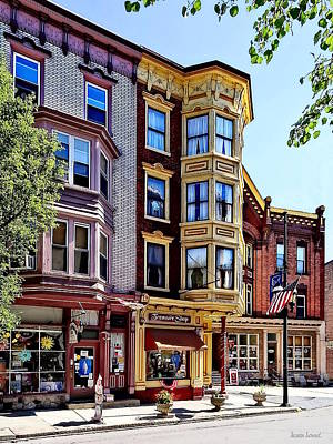 Photograph - Jim Thorpe Pa - Shops Along Broadway by Susan Savad