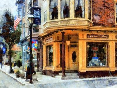 Photograph - Jim Thorpe Pa - Treasure Shop - On Broadway by Janine Riley