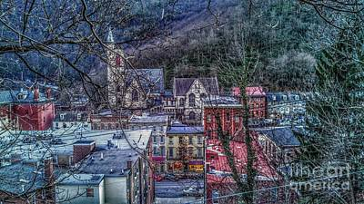 Jim Thorpe Pennsylvania In Winter #1 Art Print
