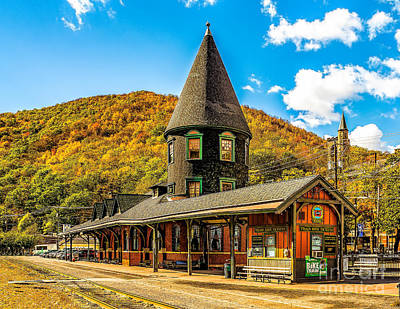 Photograph - Jim Thorpe Train Station by Nick Zelinsky