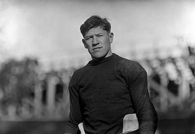 Photograph - Jim Thorpe Wearing Football Uniform by War Is Hell Store
