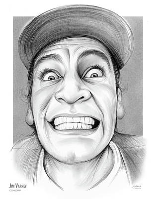 Drawing - Jim Varney by Greg Joens