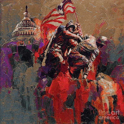 Painting - Jima Memorial Washington Dc by Gull G