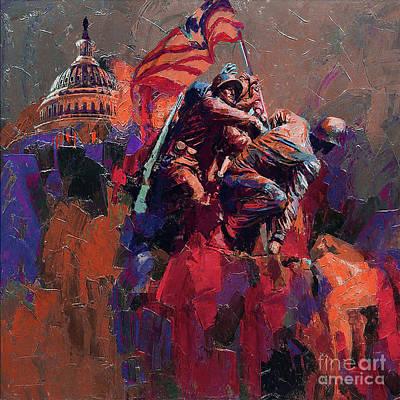 Painting - Jima Memorial Washington  by Gull G