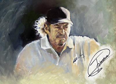 Golf Painting - Jimenez 2009 by Mark Robinson