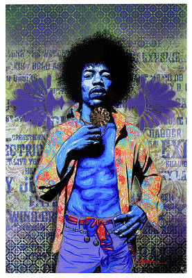 Purple Haze Mixed Media - Jimi by Gary Kroman