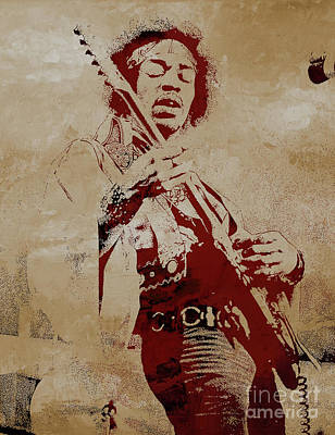 Painting - Jimi Hendrex The Legend  by Gull G