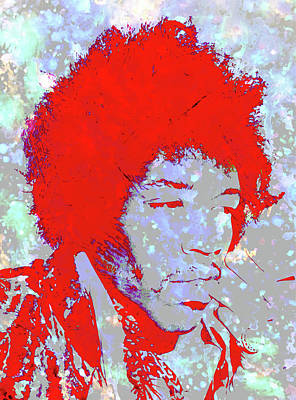 Jimi Hendrix 4c Art Print by Brian Reaves