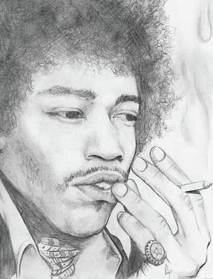 Jimi Hendrix Artwork Art Print