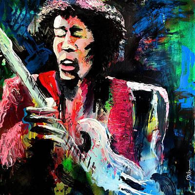 Jimi Hendrix At Kenny Dorham's Backyard Art Print