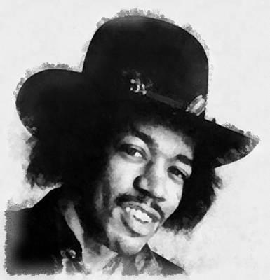 Television Painting - Jimi Hendrix By John Springfield by John Springfield