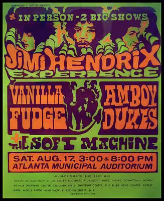 Digital Art - Jimi Hendrix Concert 1968 by Daniel Hagerman