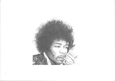 Jimi Hendrix Art Print by Dan Lamperd