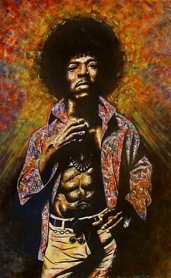 Painting - Jimi Hendrix by Darryl Matthews