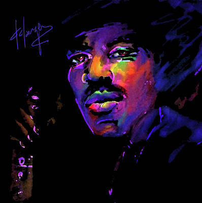 Art Print featuring the painting Jimi Hendrix by DC Langer
