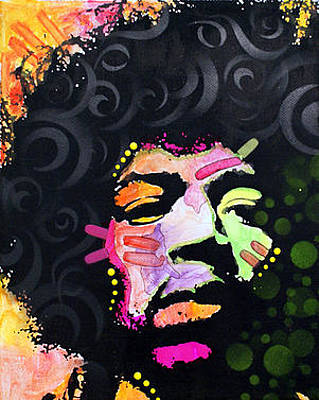 Jimi Hendrix Wall Art - Painting - Jimi Hendrix by Dean Russo Art