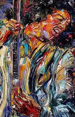 Painting - Jimi Hendrix by Debra Hurd