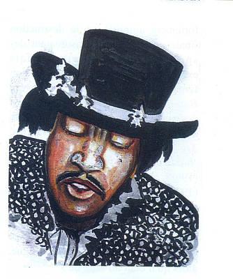 Art Print featuring the painting Jimi Hendrix by Emmanuel Baliyanga