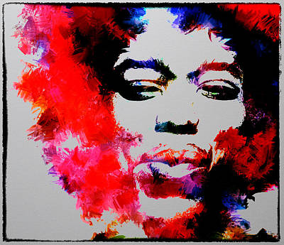 Jimi Hendrix Fire Art Print by Brian Reaves