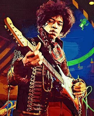 Digital Art - Jimi Hendrix Icon by Jimi Hendrix