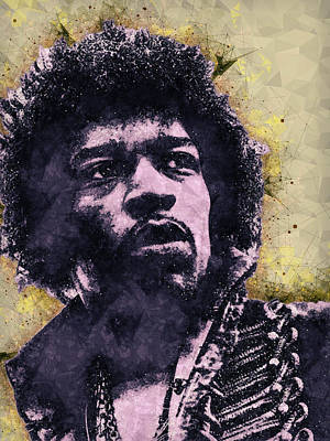 Mixed Media - Jimi Hendrix Illustration by Studio Grafiikka