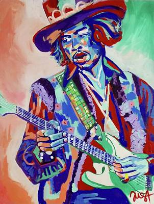 Painting - Jimi Hendrix by Janice Westfall
