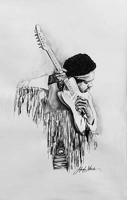 Mixed Media - Jimi Hendrix by Jeleata Nicole