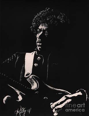 Jimi Hendrix Art Print by Kathleen Kelly Thompson