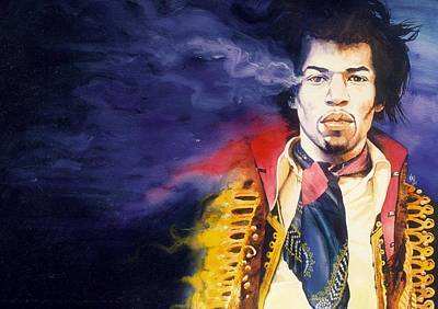 Guitarists Painting - Jimi Hendrix by Ken Meyer jr