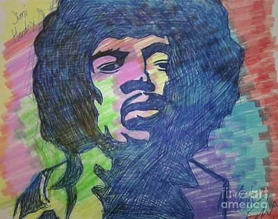 Drawing - Jimi Hendrix by Kristen Diefenbach