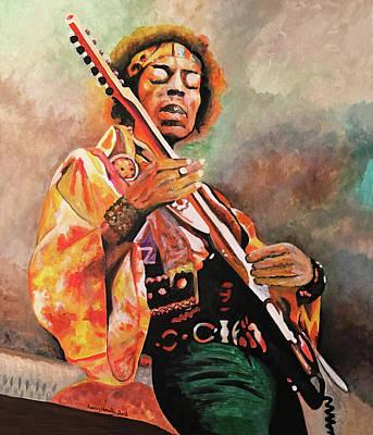 Jimi Hendrix Original by Larry L Headley