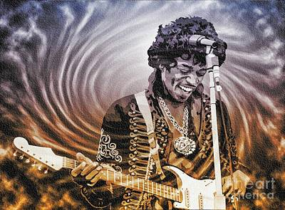 Digital Art - Jimi Hendrix - Legend by Ian Gledhill