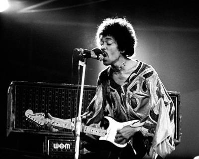 Photograph - Jimi Hendrix Live Halo 1970 by Chris Walter