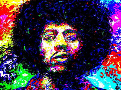 Obriens Painting - Jimi Hendrix by Mike OBrien