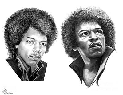 Jimi Hendrix Art Print by Murphy Elliott